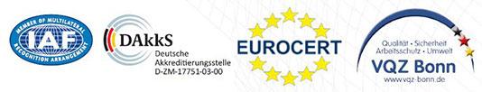 BCK GmbH Köln, Zertifizierung nach DIN-Norm durch EUROCERT